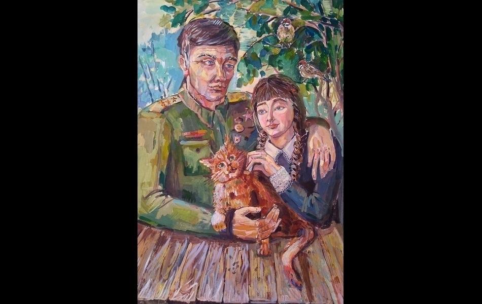 Анисимова Алевтина -14 лет. Весна 45 года